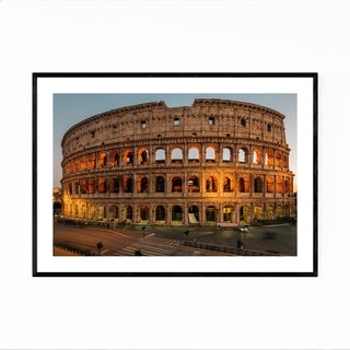 Noir Gallery Rome Italy Colosseum Photo Framed Art Print