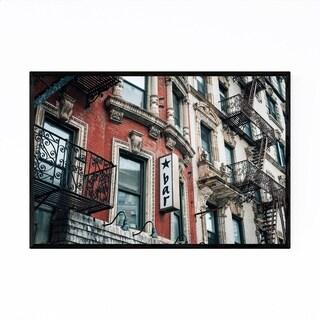 Noir Gallery East Village NYC Bar Sign Night Framed Art Print