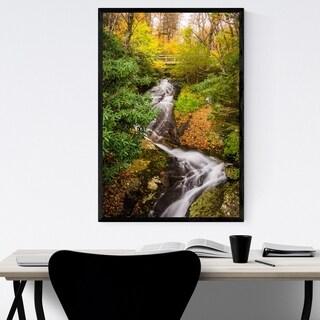 Noir Gallery Blue Ridge Parkway Waterfall Framed Art Print