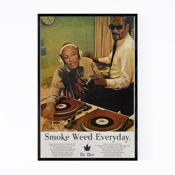 Noir Gallery Dr. Dre Snoop Dogg Smoke Weed Framed Art Print