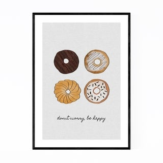 Noir Gallery Cute Donut Kitchen Typography Framed Art Print