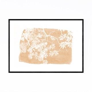 Noir Gallery Orange Nature Botanical  Leaves Framed Art Print