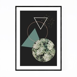 Noir Gallery Geometric Abstract Snow Digital Framed Art Print