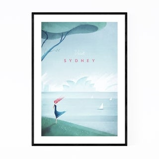 Noir Gallery Minimal Travel Sydney Australia Framed Art Print