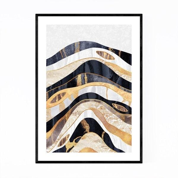 Noir Gallery Art Deco Digital Earthy Geology Framed Art Print