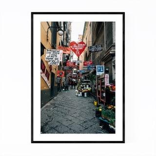 Noir Gallery Naples Italy Love Signs Street Framed Art Print