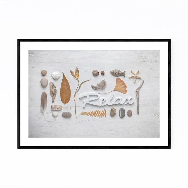 Noir Gallery Relax Beach Nature Collage Framed Art Print