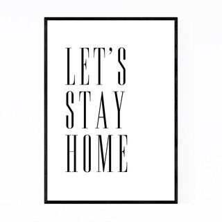 Noir Gallery Minimal Home Typography Framed Art Print