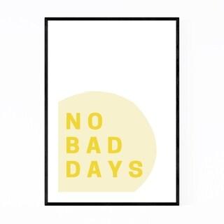 Noir Gallery Yellow Motivational Typography Framed Art Print