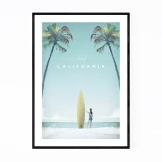 Noir Gallery Minimal Travel Poster California Framed Art Print