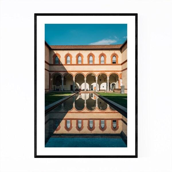 Noir Gallery Castello Sforzesco Milan Italy Framed Art Print