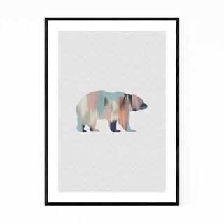 Noir Gallery Pastel Abstract Bear Animal Framed Art Print