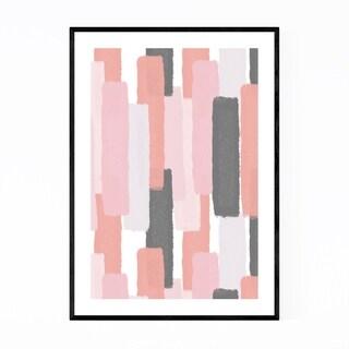 Noir Gallery Abstract Pastel Brush Painting Framed Art Print