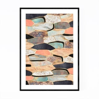 Noir Gallery Art Deco Digital Abstract Nature Framed Art Print