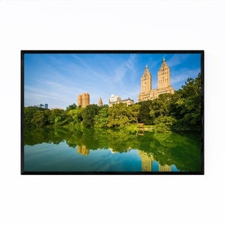 Noir Gallery Central Park Lake New York City Framed Art Print