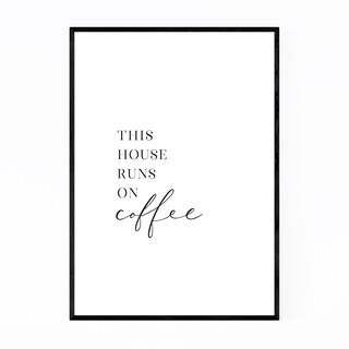 Noir Gallery Kitchen Coffee Typography Framed Art Print