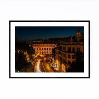 Noir Gallery Rome Italy Marcello Theater Framed Art Print
