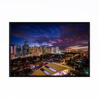 Noir Gallery Manila Makati Skyline Cityscape Framed Art Print