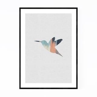 Noir Gallery Pastel Abstract Hummingbird  Framed Art Print