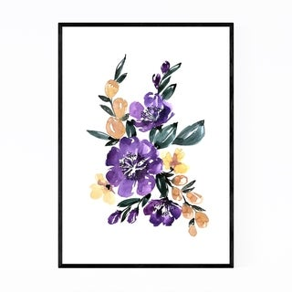 Noir Gallery Watercolor Flower Bouquet Framed Art Print