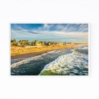 Noir Gallery Beach San Diego California Framed Art Print