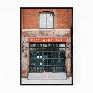 Noir Gallery Wine Bar Greenpoint Brooklyn NYC Framed Art Print
