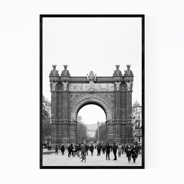 Noir Gallery Black & White Barcelona Arch Framed Art Print