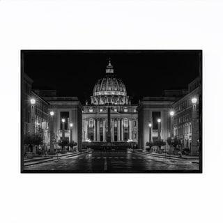 Noir Gallery Black & White Rome Vatican City Framed Art Print