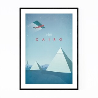 Noir Gallery Minimal Travel Poster Cairo Framed Art Print