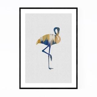 Noir Gallery Abstract Flamingo Animal Bird Framed Art Print
