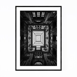 Noir Gallery Rome Italy Architecture Framed Art Print