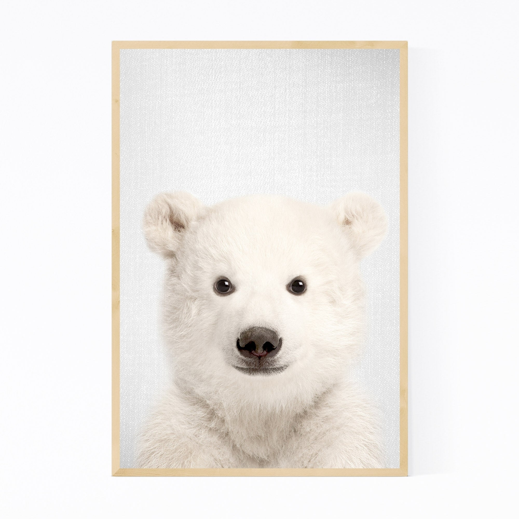 Shop Noir Gallery Baby Polar Bear Peekaboo Animal Framed Art Print