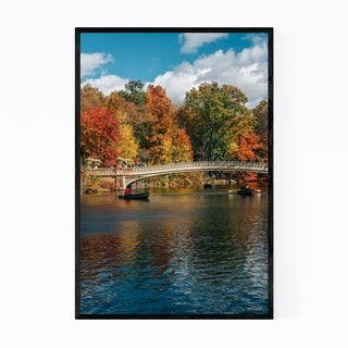Noir Gallery Central Park Bow Bridge New York Framed Art Print