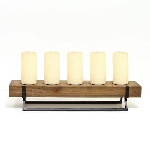 Carbon Loft Rustic 5-candle Holder Centerpiece