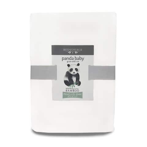 Panda Baby Bamboo Crib Sheet for Baby Crib and Toddler Mattress