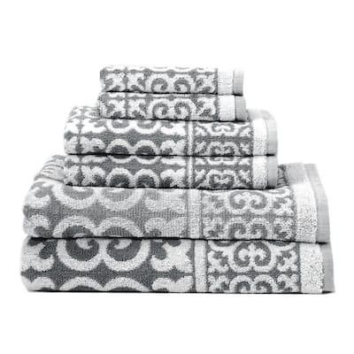 Arabesque 6-Piece Cotton Bath Towel Set