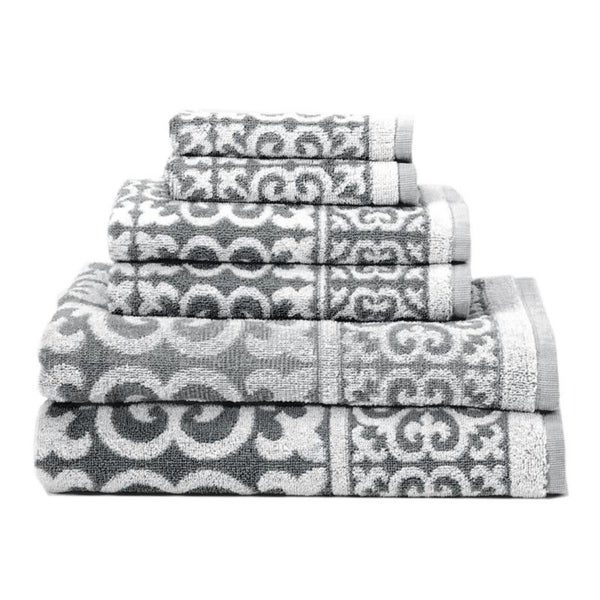 Arabesque 6-Piece Cotton Bath Towel Set. Opens flyout.