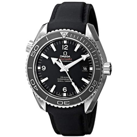 Omega Men's 232.32.46.21.01.003 'Seamaster Planet Ocean' Black Rubber Watch
