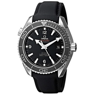 Link to Omega Men's 232.32.46.21.01.003 'Seamaster Planet Ocean' Black Rubber Watch Similar Items in Men's Watches