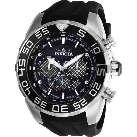 Invicta Men's 26314 'Speedway' Black Silicone Watch