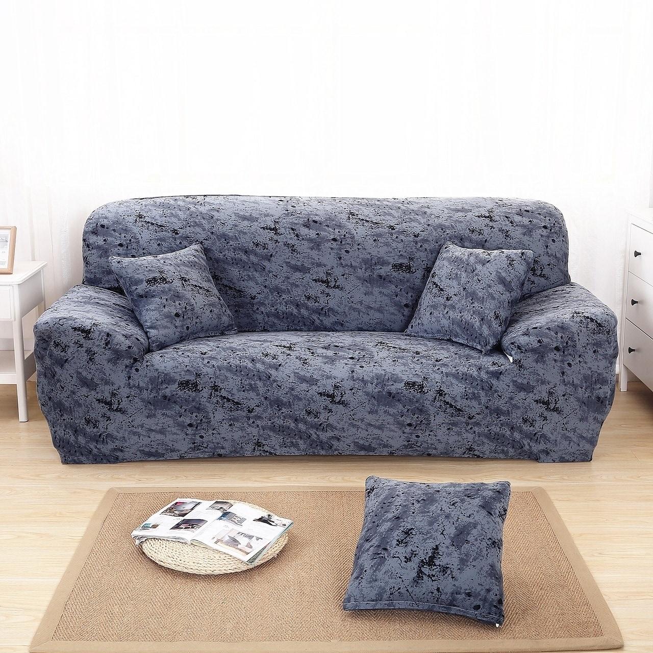 Washable Box Cushion Sofa Slipcover