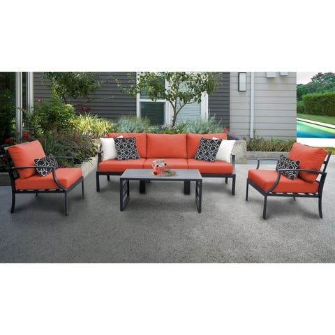 Moresby 6-piece Outdoor Aluminum Patio Furniture Set 06r by Havenside Home