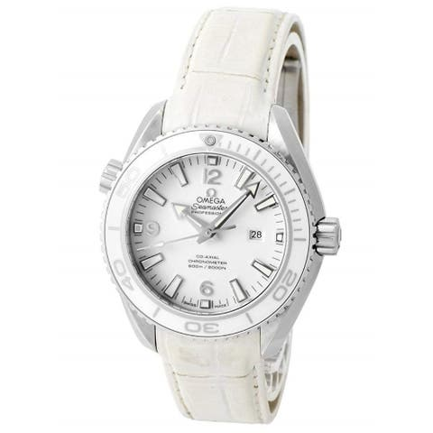 Omega Women's 232.33.38.20.04.001 'Seamaster Planet Ocean' White Leather Watch