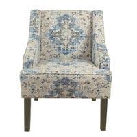 Porch & Den Holman Fabric Upholstered Swoop Armchair