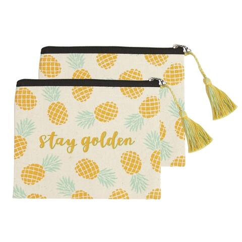 Stay Golden Cosmetic Pouches, Set of 2