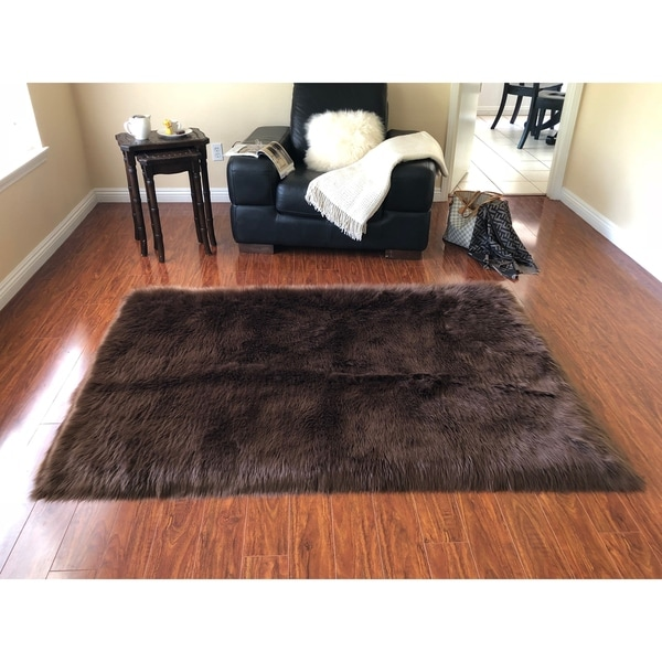 Sheepskin Rug Square: Shop Silver Orchid Nansen Luxurious Faux Sheepskin Square