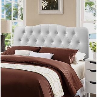 Link to Rovna White Upholstered Tufted King Size Headboard Similar Items in Bedroom Furniture