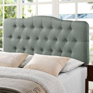 Kenmore Grey Fabric Upholstered Tufted Full Size Headboard