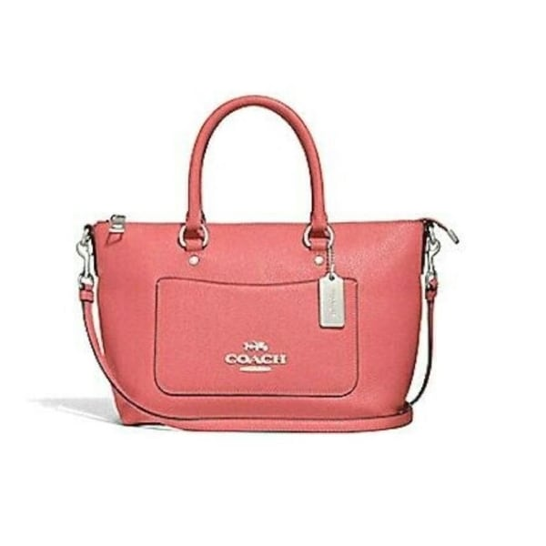 0b27720ca5c3 Shop Coach Leather 31466 Mini Emma Satchel Coral - Free Shipping Today -  Overstock - 27468552
