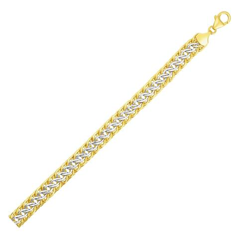 Reversible Sedusa Link Bracelet in 14k Two Tone Gold